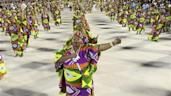 Members of Mocidade Independente de Padre Miguel Samba School perform during a rehearsal in preparation for the 2014 carnival parade in Rio de Janeiro
