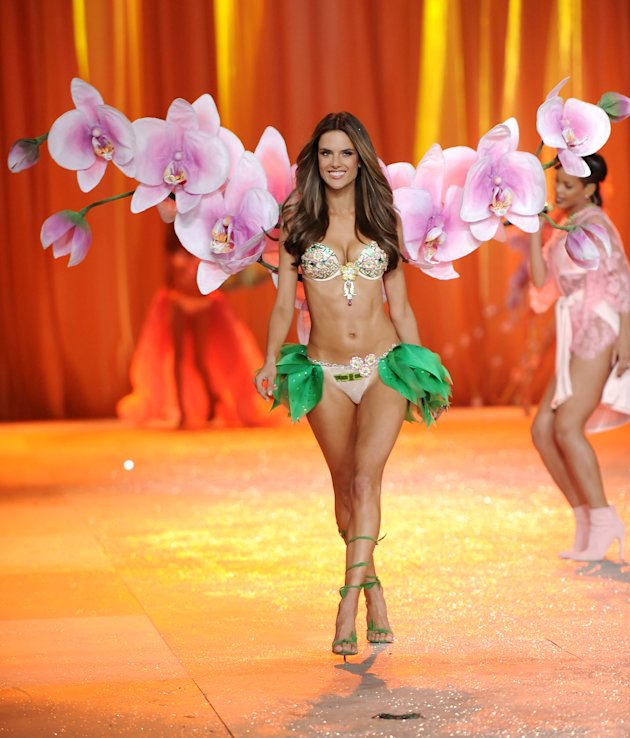 Brazilian Alessandra Ambrosio walks the runway during the 2012 Victoria's Secret Fashion Show on Wednesday Nov. 7, 2012 in New York. The show will be broadcast on Tuesday, Dec. 4 (10:00 PM, ET/PT)