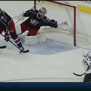 Goligoski buries a big rebound for the PPG
