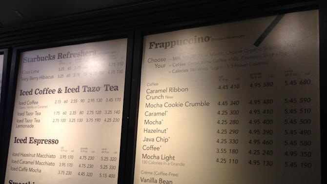 Wake-up call: Starbucks to post calorie counts