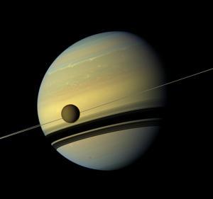 Spectacular Photos of Saturn and Titan Captured by NASA Spacecraft