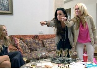 The latest brawl on Real Housewives of Beverly Hills. (Courtesy of Bravo Network)