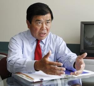 "FILE - In this Aug. 17, 2010 file photo, Congressman David Wu, D-Ore., speaks during an interview in Portland, Ore. Wu is calling a published report about an alleged unwanted sexual encounter with a young woman ""very serious"" but has not yet said whether the accusation is true. The Oregonian reports that a young woman from California has accused the Democrat of an unwanted sexual encounter last November. The newspaper said the information came from sources who wanted to remain anonymous. (AP Photo/Don Ryan, File)"