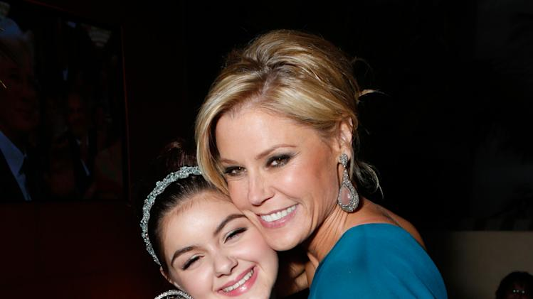 Actresses Ariel Winter, left, and Julie Bowen attend the Fox Golden Globes Party on Sunday, January 13, 2013, in Beverly Hills, Calif. (Photo by Todd Williamson/Invision for Fox Searchlight/AP Images)