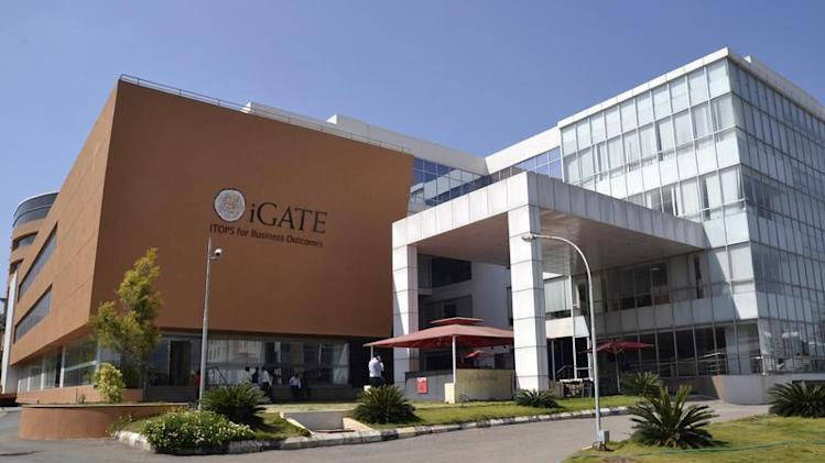A view shows the Indian headquarters of iGate in the southern Indian city of Bangalore