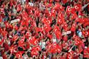 Turkish flags at the team's Euro 2016 match against Czech Republic in Lens on June 21, 2016
