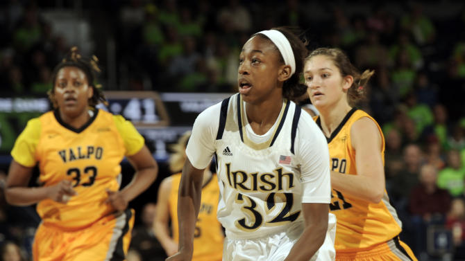 Loyd helps No. 6 Notre Dame rout Valparaiso