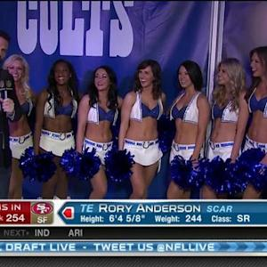 NFL Media's Dave Dameshek hangs out with Indianapolis Colts cheerleaders