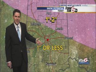 Light snow to dust central Indiana
