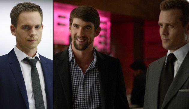 Patrick J. Adams, Michael Phelps, Gabriel Macht -- USA