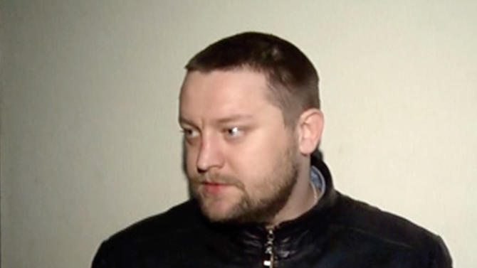 In this frame grab taken from video on Moscow Interior MInistry branch web site on Wednesday, March 6, 2013, Yuri Zarutsky is seen in Moscow.   The alleged perpetrator of an acid attack on Sergei Filin, the artistic director of the Bolshoi ballet, 35-year-old  Zarutsky was arrested on Tuesday in the Tver region north of Moscow, police said. Police have also detained and questioned Andrei Lipatov, who is believed to have driven Zarutsky to the scene of the crime. (AP Photo/  Interior Ministry branch website)