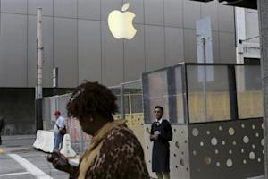 The Apple flagship retail store is pictured in San Francisco