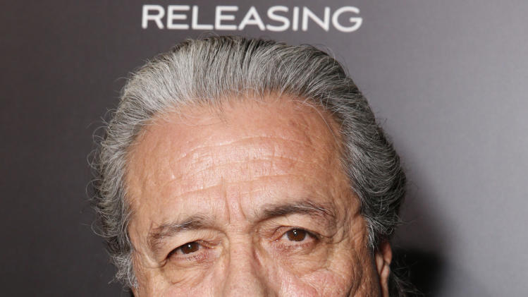 """Edward James Olmos attends Pantelion's """"Filly Brown"""" Los Angeles Premiere Hosted by the Rivera Family at the Regal LA Live Stadium on April 17, 2013 in Los Angeles. (Photo by Todd Williamson/Invision for Pantelion Films/AP Images)"""