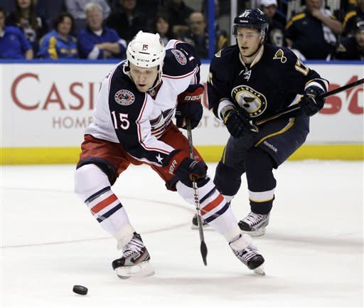 Blue Jackets knock off Blues 5-2
