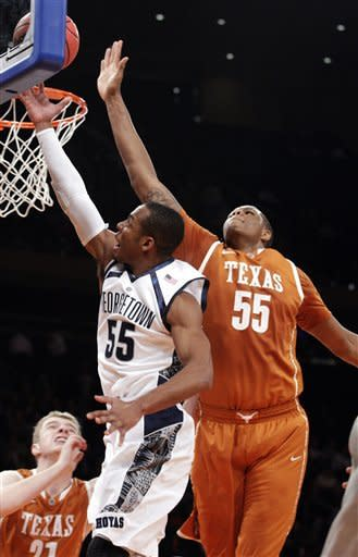 No. 15 Georgetown beats Texas 64-41