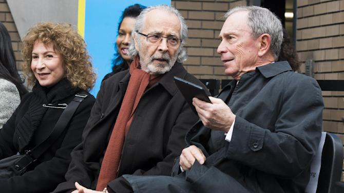 """From left to right, Lani Hall, Herb Albert and Mayor Michael R. Bloomberg attend the """"Harlem School of the Arts - The Herb Alpert Center"""" building naming ceremony, on Monday, March 11, 2013 in New York. (Photo by Charles Sykes/Invision for Harlem School of the Arts/AP Images)"""