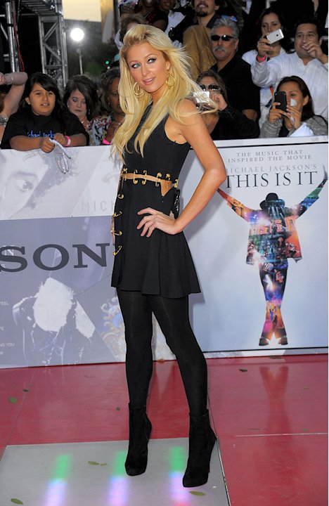 Michael Jackson's This It It LA Premiere 2009 Paris Hilton