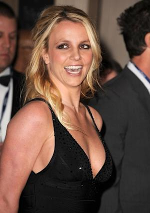 Britney Spears arrives at The Recording Academy's 2012 Pre-Grammy Gala And Salute To Industry Icons at The Beverly Hilton hotel in Beverly Hills, Calif. on February 11, 2012 -- Getty Premium