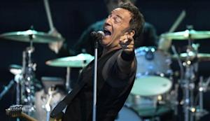"U.S. musician Bruce Springsteen performs with the E. Street Band during a tour to promote their latest album ""Working on a Dream"", at Zorrilla stadium in Valladolid"
