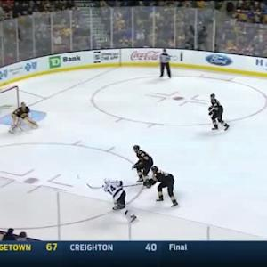 Tuukka Rask Save on Dwight King (04:14/1st)