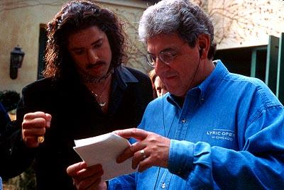 Brendan Fraser and director Harold Ramis in 20th Century Fox's Bedazzled