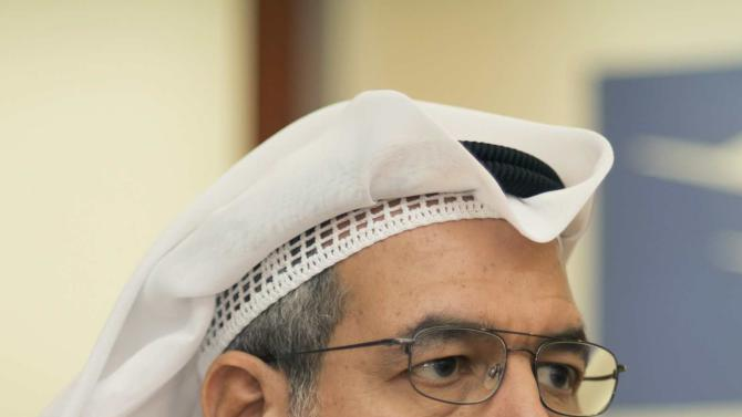 Vice Chairman and CEO of ALAFCO Ahmad Alzabin looks on during the Reuters Summit in Kuwait City
