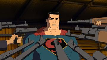 Superman (voiced by Kyle MacLachlan ) in Warner Premiere's Justice League: The New Frontier