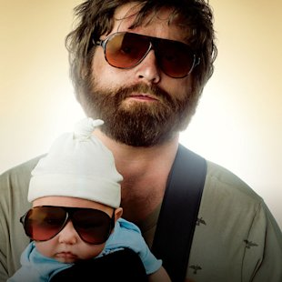 Zach Galifianakis The Hangover Poster Production Stills Warner Bros. 2009
