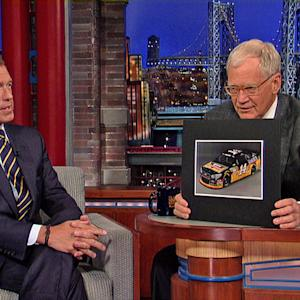 Brian Williams on NASCAR vs Formula One - David Letterman