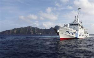 File photo of a Japan Coast Guard vessel sailing in …