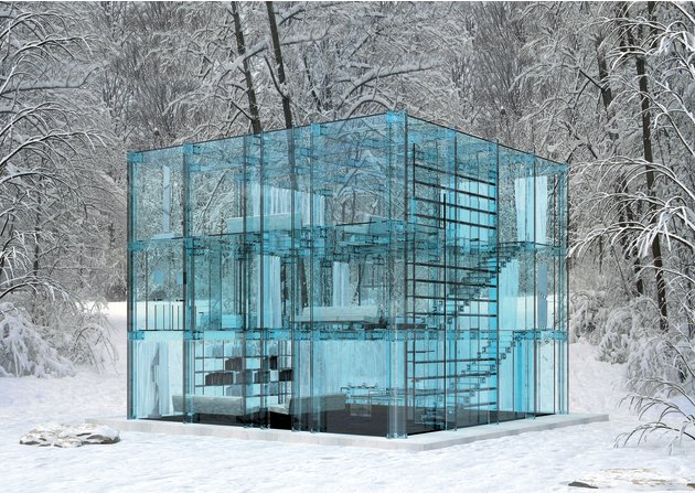 Glass House: la case transparente …