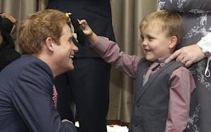 Prince Harry Shows His Face