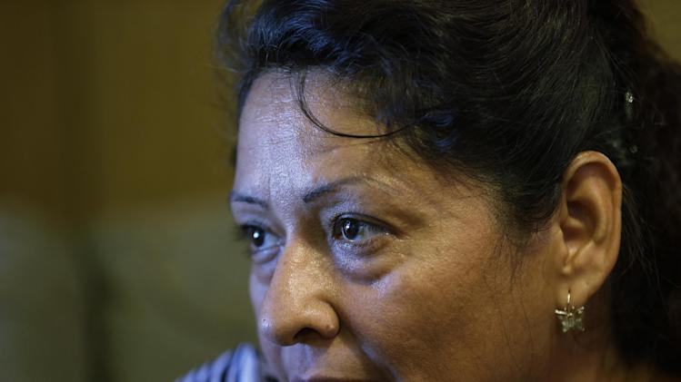 Sonia Limas, an illegal immigrant, talks about her health care situation at her home, Thursday, Sept. 6, 2012, in Alamo, Texas. (AP Photo/Eric Gay)