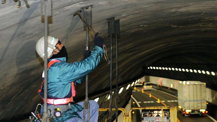 Japan tunnel disaster shows aging of public works