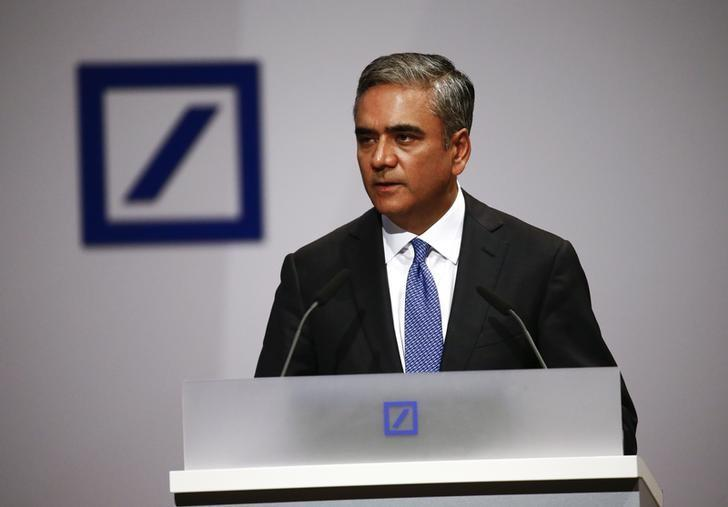 Workers at Deutsche Bank HQ call for Jain to quit as job cuts loom