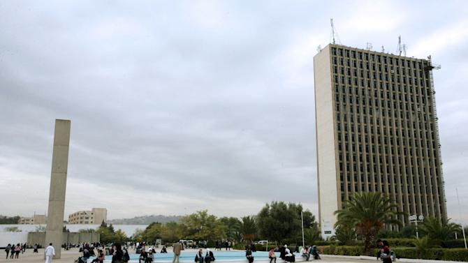 In this Oct. 26, 2012 photo, a building at Constantine University, designed by Brazilian architect Oscar Niemeyer, stands in Constantine, Algeria. According to a hospital spokeswoman on Wednesday, Dec. 5, 2012, famed Brazilian architect Oscar Niemeyer has died at age 104.  (AP Photo/Lotfi)