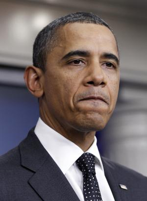 President Barack Obama makes a statement at the White House after the congressional debt supercommittee failed to reach an agreement on debt reduction on Monday, Nov. 21, 2011, in Washington.  (AP Photo/Pablo Martinez Monsivais)
