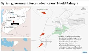 Syrian forces advance on IS-held Palmyra