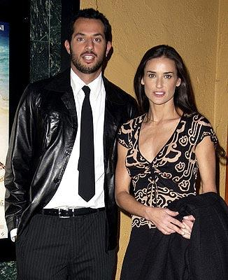 Guy Oseary and Demi Moore at a Los Angeles screening of Screen Gems' Swept Away