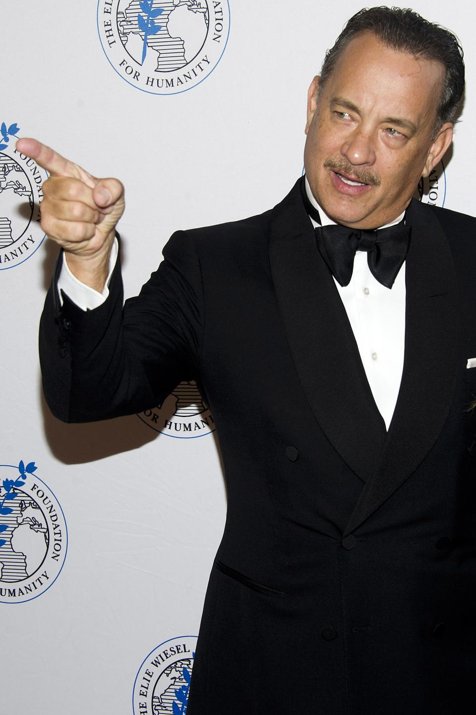 Honoree Tom Hanks attends The Elie Wiesel Foundation For Humanity's Arts for Humanity Gala on Wednesday, Oct. 17, 2012  in New York.  (Photo by Charles Sykes/Invision/AP)