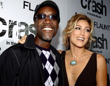 Premiere: Don Cheadle and Jennifer Esposito at the Beverly Hills premiere of Lions Gate Films' Crash - 4/26/2005