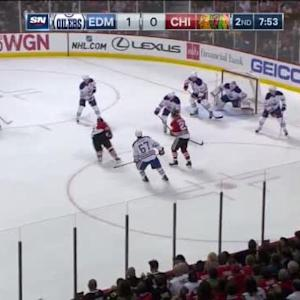 Ben Scrivens Save on Marian Hossa (12:09/2nd)