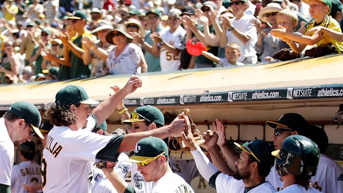 The Oakland Athletics announces a 10-year lease extension deal with the city council to continue playing MLB games at the team's 48-year-old home ballpark