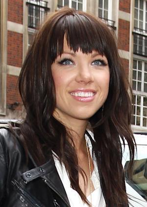 Carly Rae Jepsen is seen arriving at BBC Radio One in London on April 18, 2012 -- FilmMagic