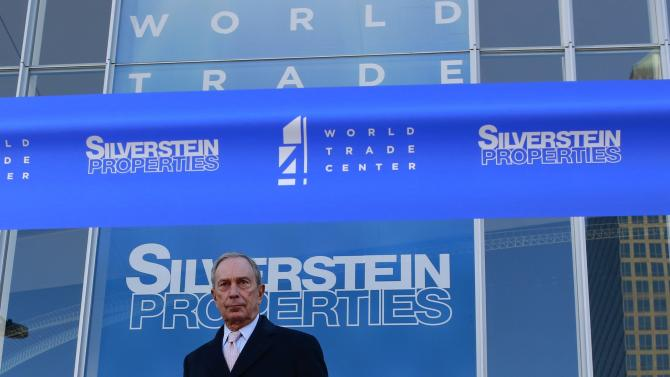 New York City Mayor Michael Bloomberg stands before a ribbon cutting ceremony to mark the opening of the new 4 World Trade Center in New York