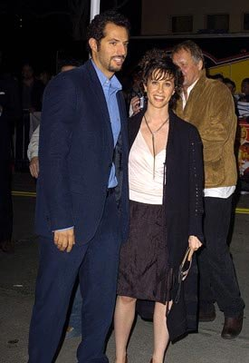 Guy Oseary and Alanis Morissette at the LA premiere of Warner Bros.' Starsky &amp; Hutch