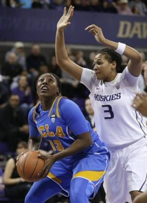 No. 17 UCLA women hold off Washington 65-61