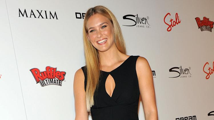 Bar Refaeli, number one on Hot 100 list, arrives to The MAXIM Hot 100 Party presented by Ruffles Ultimate Potato Chips and Dips, Thursday, May 24, 2012, in New York.  (Diane Bondareff/AP Images for Ruffles Ultimate)