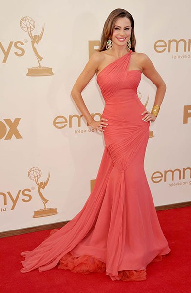 On the red carpet at the 2011 Emmys