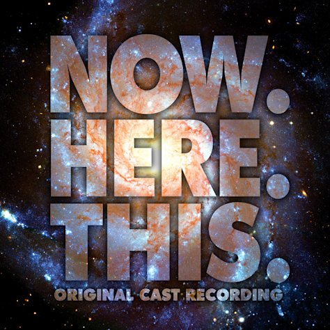 "This CD cover image released by Ghostlight shows ""Now.Here.This,"" the original Broadway cast recording. Jeff Bowen, who starred in the show as well as wrote the songs and lyrics, turned to the show's fans via crowdfunding to get a cast album produced, an idea that more in the theater community are embracing. (AP Photo/Ghostlight)"